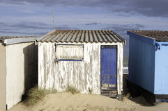 Small beach house. In Calais, France Stock Image