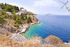 Small beach at Hydra island Greece Royalty Free Stock Photo