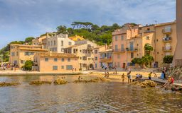 Small Beach In Town Of Saint Tropez Royalty Free Stock Photography