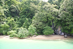 Small beach of an island in Andaman sea Royalty Free Stock Images