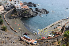 Small beach in Los Gigantes, Tenerife Stock Image