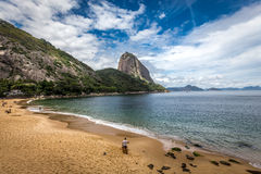 The small beach near sugar loaf Stock Photography