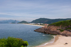 Small Beach in Niteroi, Brazil. Small and empty beach somewhere in Niteroi city, Rio de Janeiro, Brazil Royalty Free Stock Photography