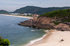 Small Beach in Niteroi, Brazil. Small and empty beach somewhere in Niteroi city, Rio de Janeiro, Brazil Royalty Free Stock Photos