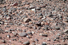 Small beach round stones pattern Royalty Free Stock Images