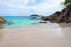 Small beach in Thailand Royalty Free Stock Images