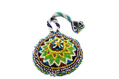 Small beaded bag Royalty Free Stock Images