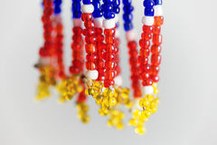 Small beads with different colors Stock Images