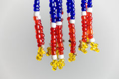 Small beads with different colors Royalty Free Stock Images