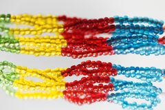 Small beads with different colors Stock Image