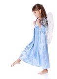 A small beautiful angel girl Stock Photo