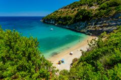 Small Beautiful Beach on Zakynthos stock photos