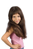 The small beautiful girl Stock Photos