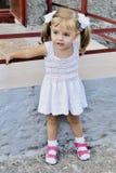 Small beautiful girl schoolgirl Stock Photo