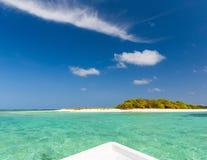 Small beautiful island on Maldives Stock Image