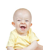 Small beautiful laughing baby boy Royalty Free Stock Image
