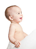 Small beautiful laughing baby girl Royalty Free Stock Image