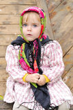 The small beautiful serious girl Royalty Free Stock Images