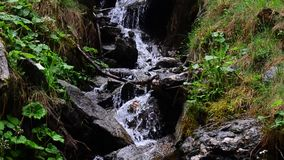 Small beautiful waterfall stock video footage