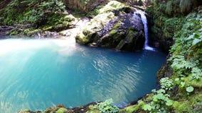 Small beautiful waterfall stock video