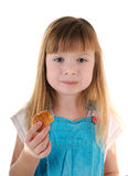 Small beauty eating girl Stock Images