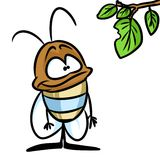 Small beetle insect cartoon Stock Photos