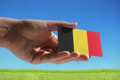 Small Belgian flag Stock Photo