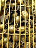 Small bell, Khao Tang Kua, Songkhla Thailand. Golden christmas bells stock photos