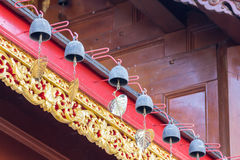 Small bell on the roof in thai temple Stock Photography