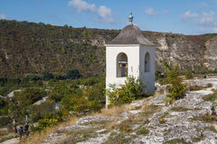 Small bell-tower built over cave monastery, Old Orhei royalty free stock images