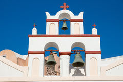 Small belltower of a church in Oia Royalty Free Stock Images