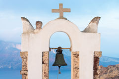 Small belltower in Oia Stock Photos