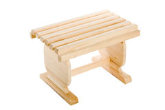 Small bench wooden Royalty Free Stock Photography