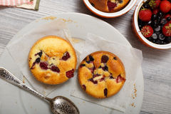Small berry cakes Stock Photography