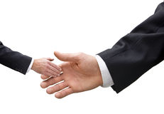 Small Big Business Handshake Size Stock Image