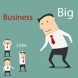 Small and big business partnership Royalty Free Stock Images