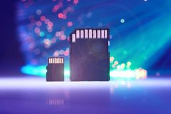 Small And Big Memory Card Stock Image