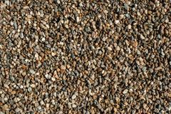 Small and big sand, gravel and pebbles background pattern Stock Images