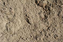 Small and big sand, gravel and pebbles background pattern Stock Photo