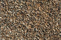Small and big sand, gravel and pebbles background pattern Stock Photography