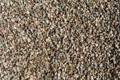 Small and big sand, gravel and pebbles background pattern Stock Image
