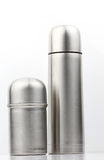 Small and big thermal flask Royalty Free Stock Photography
