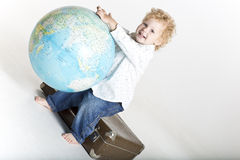 Small big traveller Stock Photo