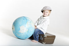 Small big traveller Stock Image