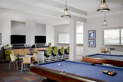Small Billiards room Stock Images