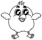 Small bird smiling for coloring Stock Images