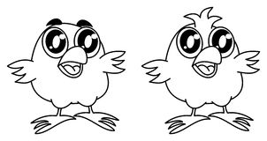 Small bird smiling for coloring Stock Image
