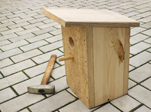 Small birdhouse from boards Royalty Free Stock Photo