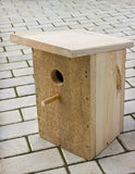 Small birdhouse from boards Royalty Free Stock Photos