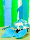 Small birthday cake with number one Stock Image